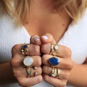 Anna Beck Moonstone Circle Open Gold Ring